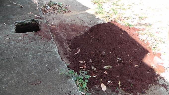 buraco e a terra