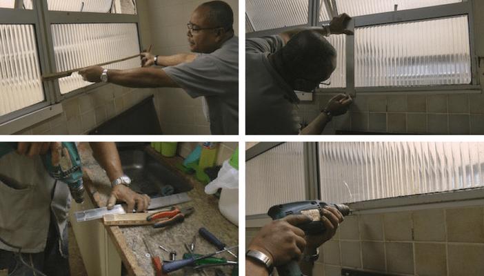 medindo depurador de ar