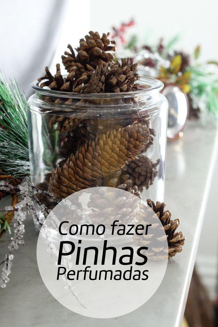 PINHAS PERFUMADAS DENTRO DE UM VIDRO de decoração