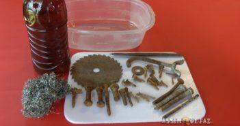 materiais para retirar a ferrugem de metais