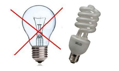 lâmpada incandescente e fluorescente