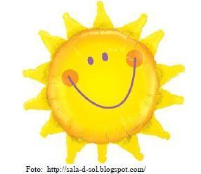 desenho de um sol amarelo