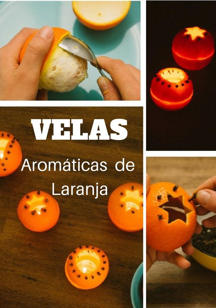 velas aromáticas de laranja