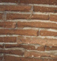 parede de tijolo adobe a vista