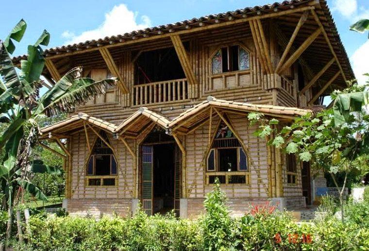 casa construida com adobe