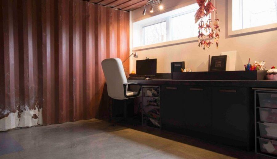 escritorio da casa de container