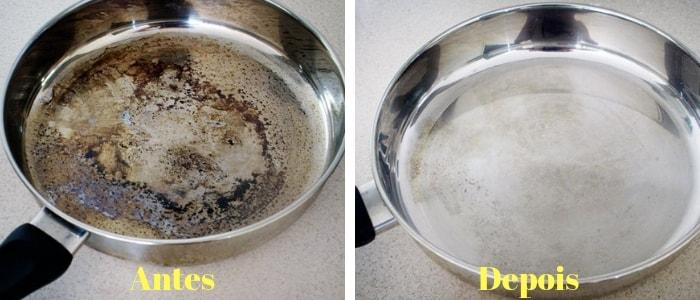 panela suja e panela limpa