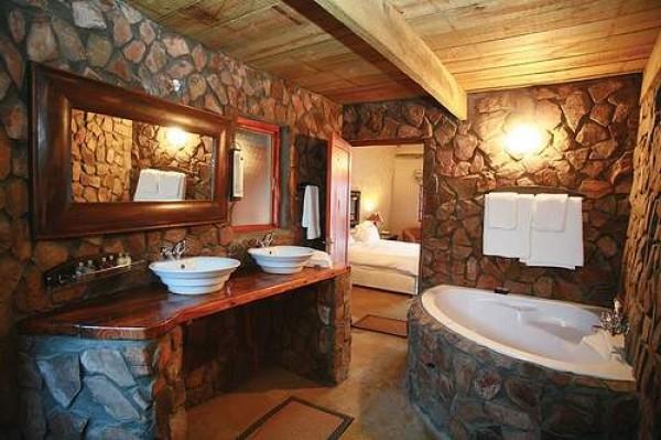 banheiro estilo rústico