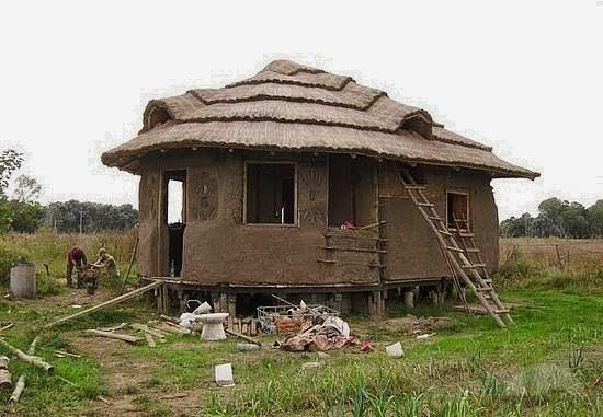 construindo uma casa de barro