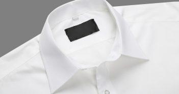 colarinho de camisa branco