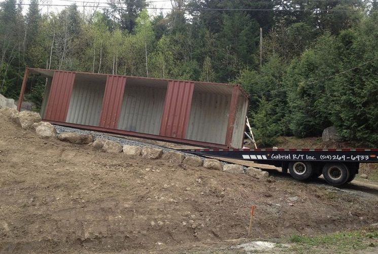 transportando container