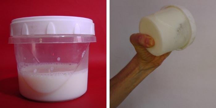 agitando leite