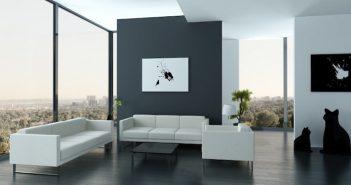 sala no estilo minimalista