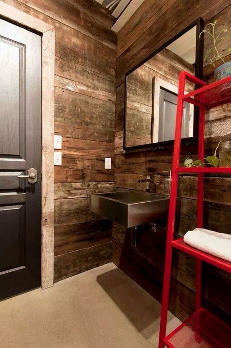 banheiro aconchegante dentro do container