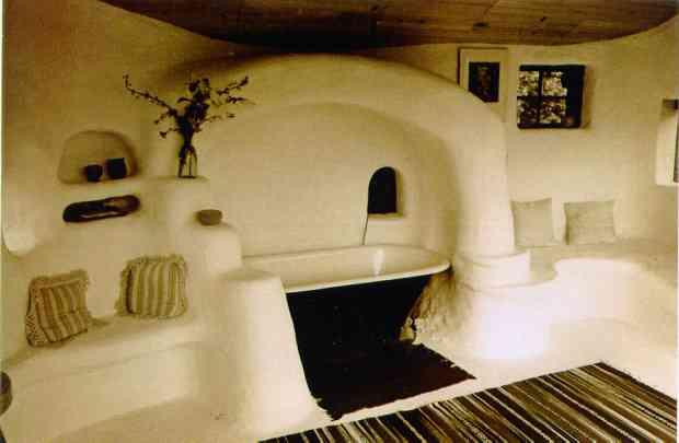 interior da casa construído com cob