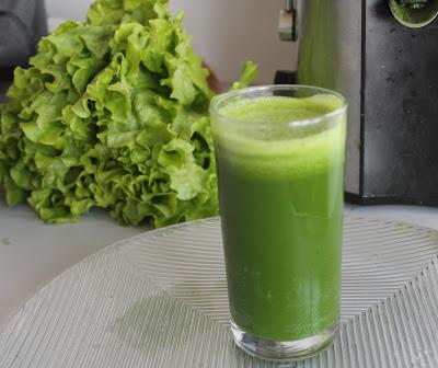 suco de alface verde