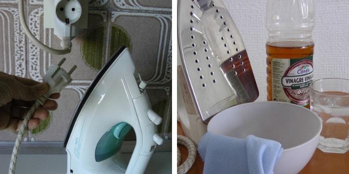 limpar ferro de passar a roupa