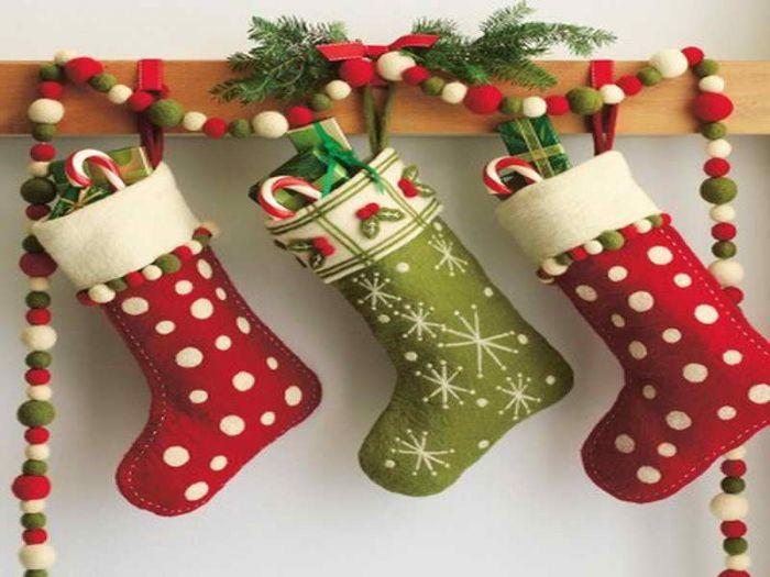 meias de natal penduradas