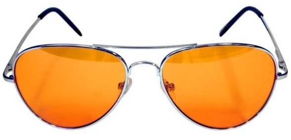 óculos lentes cor laranja