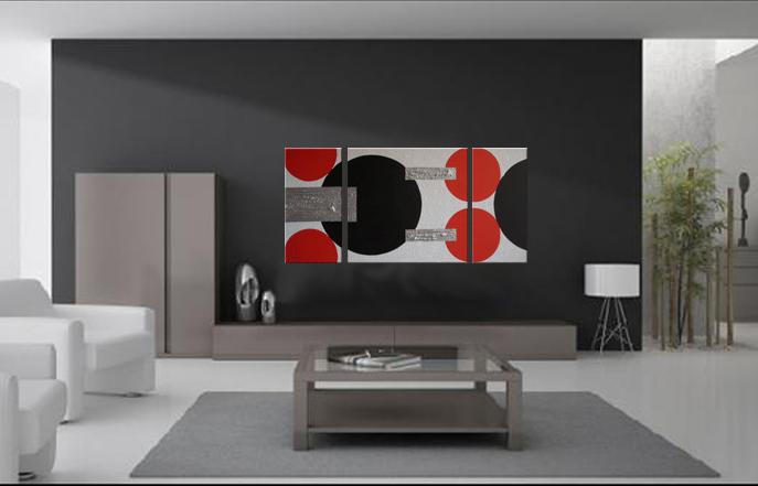 Como escolher a cor para paredes da sala assim que faz - Cuadros abstractos para salon ...