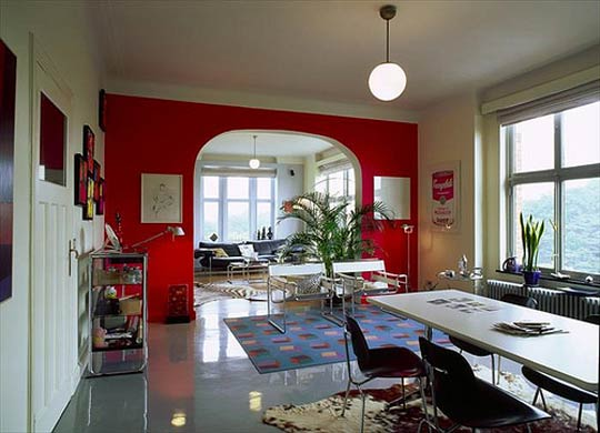 Como escolher a cor para paredes da sala assim que faz - Peindre un mur de couleur dans un salon ...