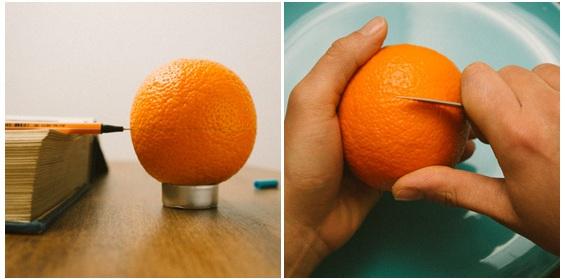tiendo a casca da laranja