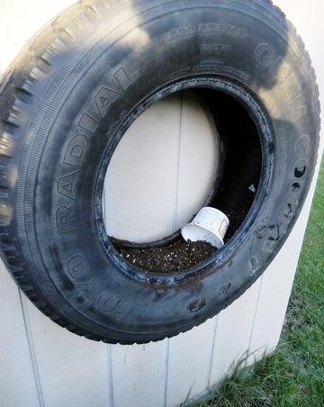 pneu com terra no interior