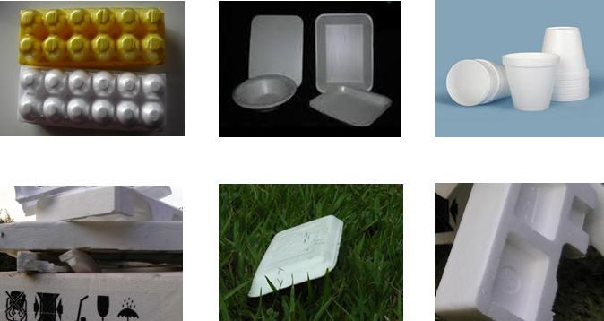 varias embalagens de isopor