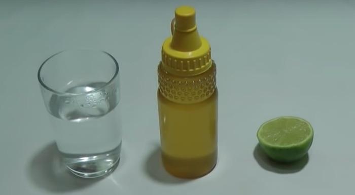 água mel limão