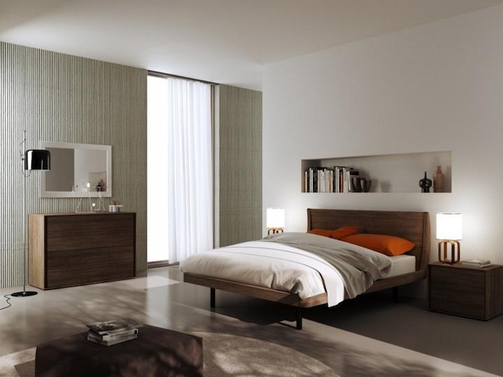 quarto com estilo misturados retro e moderno