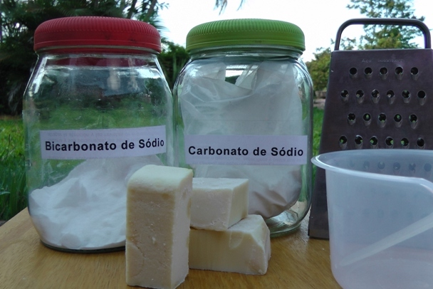 ingredientes para fazer sabão em pó