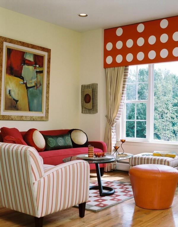 sala com estilo retro