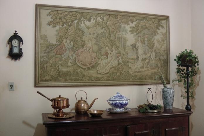 tapeceria na parede estilo clássico