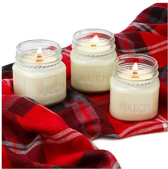 3 velas aromáticas pequenas