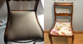 cadeira velha cadeira com estofado novo