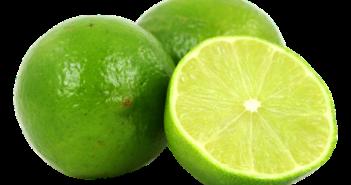 fruta de limão partida pela metade