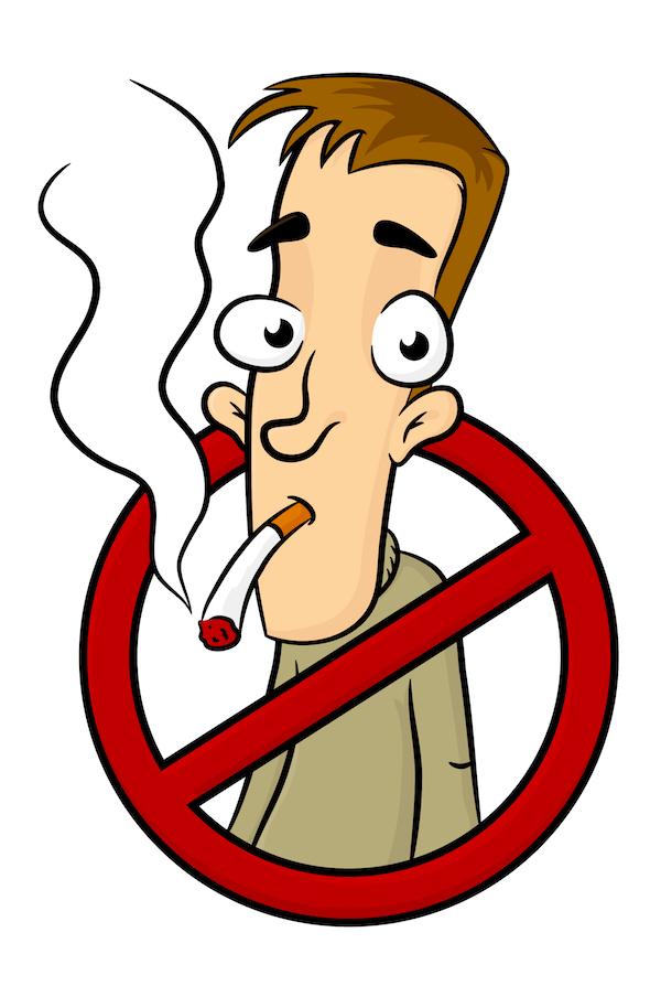 sinal de proibido fumar