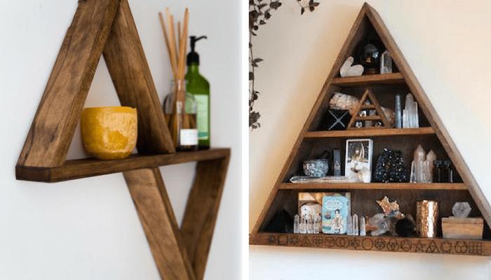 estantes triángulo DIY 2