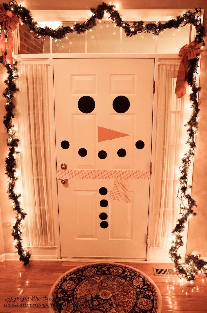 porta simples de boneco de neve