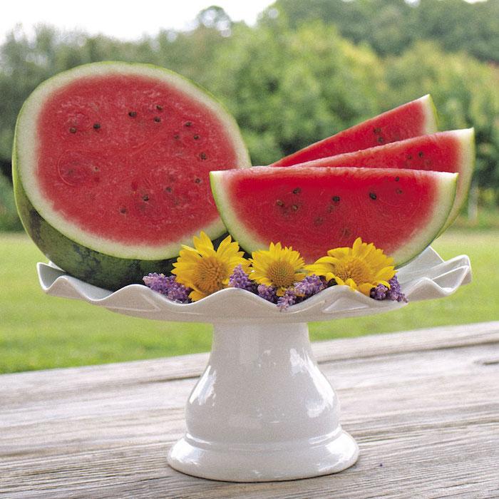 melancia partida mesa jardim