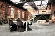 sala decorada no estilo industrial