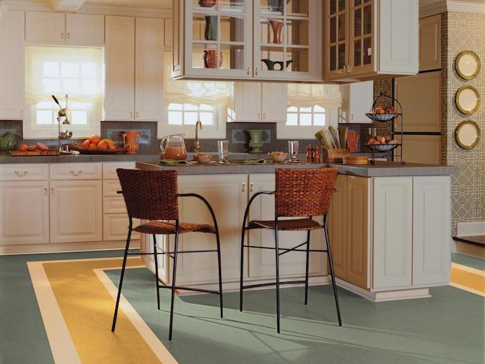 piso de linóleo cozinha