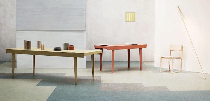 sala de reunião com piso linóleo