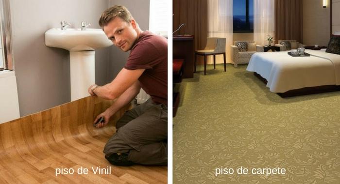 piso de vini e piso de carpete