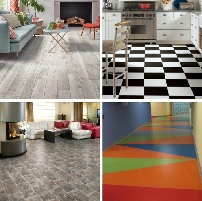 4 diferentes modelos piso vinil