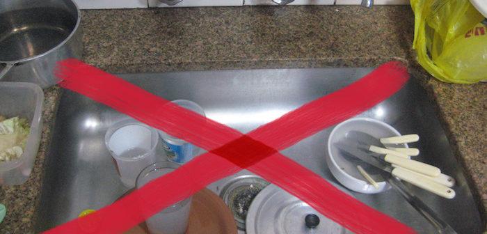 proibido pratos sujos