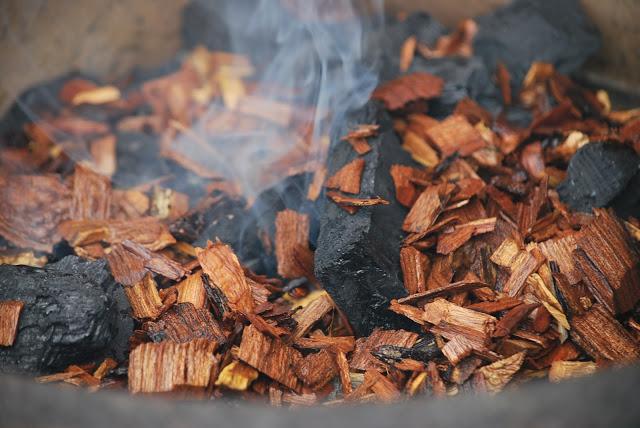 carvão com madeira umida