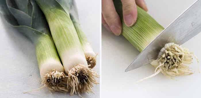 cortar ponta raiz alho poro