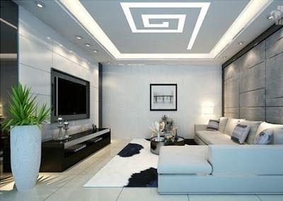 teto decorado sala pequena