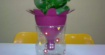 vaso feito de garrafa pet